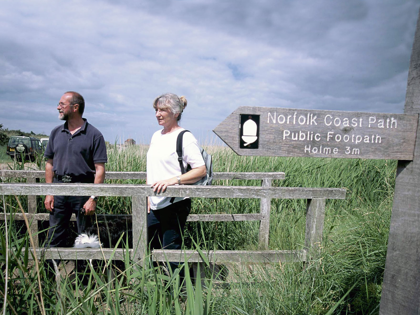 Norfolk Coast Path walkers at Thornham (picture by Andy Tryner, courtesy of Natural England / National Trails)